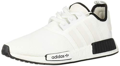 adidas Originals Men's NMD_R1 Running Shoe White/Black, 8.5 M US (Adidas Sneakers Men White)