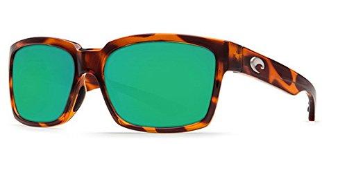Costa Del Mar Playa 580G Playa, Honey Tortoise Frame Green Mirror, Green ()