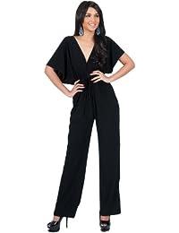 Womens Short Kimono Sleeve One Piece Jumpsuit Cocktail...