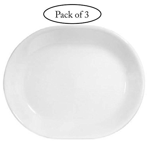 Corelle Livingware 12-1/4-inch Serving Platter, Winter Frost White-3-pack