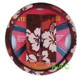 Hawaiian Steering Wheel Cover and Shoulder Pad - Red Hawaii Hibiscus Floral - New Steering Car Hawaiian Wheel