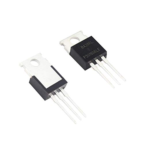 Acesotop RFP30N06LE 30A 60V N-Channel Power Mosfet TO-220 ESD Rated for Arduino(10 Pieces)