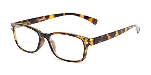 Readers.com | The Hardy Bifocal +2.50 Tan Tortoise Retro Square Stylish Men
