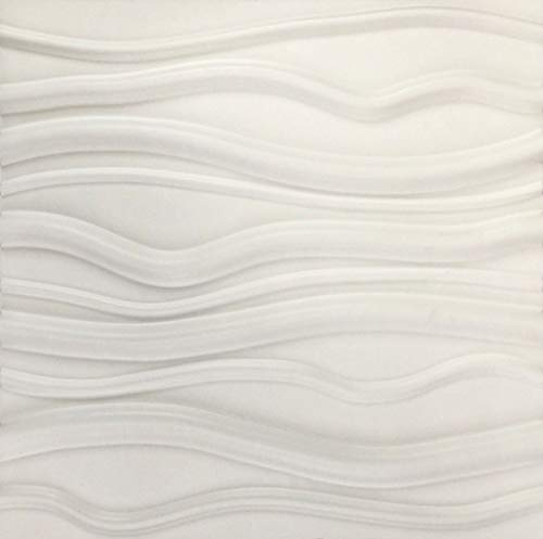 Easy Peel & Stick, Durable Plastic Textured Decorative 3D Wall Panel - GAPLESS TWIG Design. 12 Panels. 32 SF