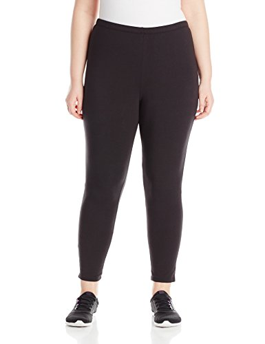 Just My Size Women's Plus-Size Stretch Jersey Legging, Black, 3X