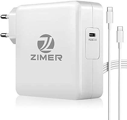 Cargador USB C 87w Adaptador de Corriente PD Tipo C Cargador Compatible con MacBook Pro 13 15 Macbook Air 2018
