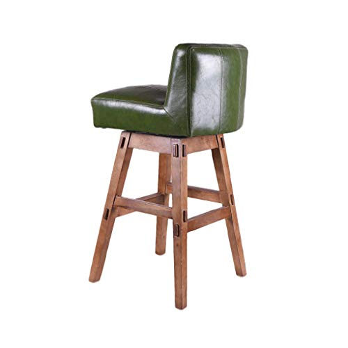 (Bar Chair Stool,Nordic Simple Modern Design Style Soft Comfy PU Leather Solid Beech Wood Home Barstools (Color :)