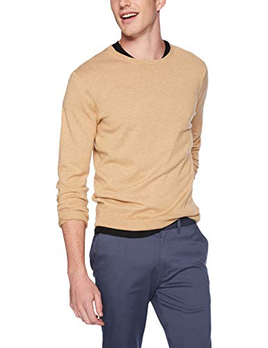 - J.Crew Mercantile Men's Crewneck Sweater, Heather Honey, M