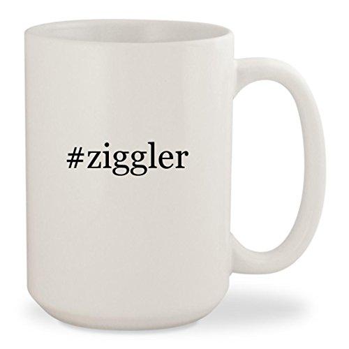 #ziggler - White Hashtag 15oz Ceramic Coffee Mug Cup Song Coffee Grinder