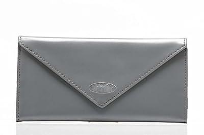 Big Skinny Women's Slimvelope Leather Tri-Fold Checkbook Slim Wallet, Holds Up to 40 Cards
