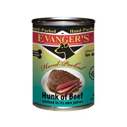 Evanger's Hand-Packed Hunk of Beef Canned Dog Food (13 oz. (12 in case)), My Pet Supplies