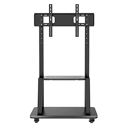 Bookcases NAN Liang Mobile Floor TV Stand Trolley Cart with Mount Display for 55 to 75 inch TV, 80 kg Shelf (Tv Lcd Bookcase)