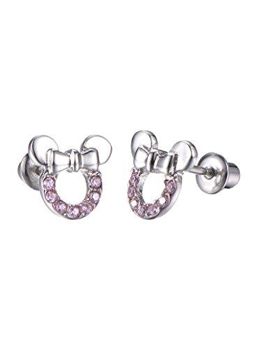 Stainless Steel Mouse Screwback Earrings