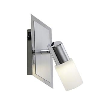 Breite: 50 cm 821410305 Trio-Leuchten LED-Balken Aluminium geb/ürstet//chrom inklusiv 3x 5W LED Glas wei/ß gewischt