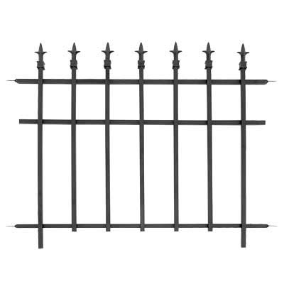 (BestNest Bulk Buy of 10 Panacea Classic Finial Fence Sections, Black)