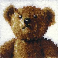 Hook Latch Pillow Bear (Wonderart 12x12 Latch Hook Kit: Old Tyme Bear)