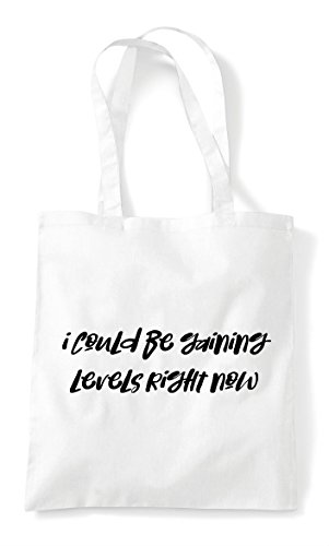 Tote White Bag Could Be Gamer I Gaming Right Now Shopper Statement Gaining Levels vznxWRW7Uq