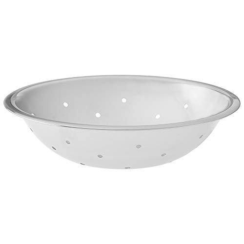 3/4 Quart Stainless Steel Fruit Vegetable Washing Colander, Perforated Washing Bowl, (0.75 Qt.) Polished Mirror Finish Flat Base Sink Basket, Colanders by Tezzorio ()