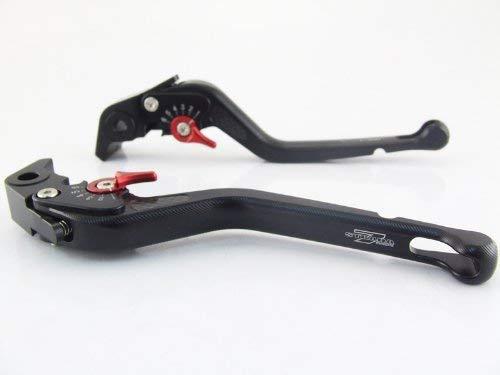 Strada 7 Racing Carbone Long R/églable Leviers Paire Noir pour Suzuki Hayabusa Gsxr 1300