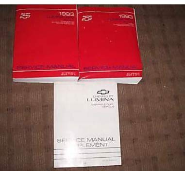 1993 Chevrolet Lumina APV Repair Service Manual Set DEALERSHIP OEM GM BOOKS 93