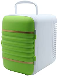 SL&BX Mini kühlteil,Car mini refrigerator outdoor dormitory small refrigerator home dual portable car refrigerator-green 24.5x17.5x23cm(10x7x9inch)