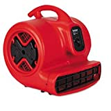 * Commercial Three-Speed Air Mover, 1/2 hp Motor, 20 Ibs, Red/Black