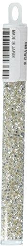 Miyuki Delica Hex Seed Bead 11/0 DBC0041, Silverlined Crystal, 9-Gram/Pack