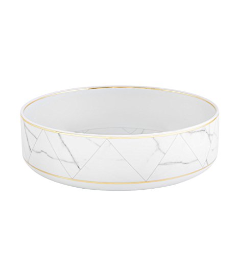 VISTA ALEGRE - CARRARA (Ref # 21124427) Porcelain Salad Bowl by Coline Le Corre by Unknown