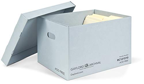 Gaylord Archival Record Storage Box with Handholds