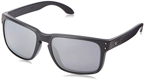 Oakley Mens Holbrook Sunglasses, Matte Black/Black Iridium Polarized, One Size