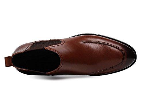 HWF Scarpe Uomo in Pelle Scarpe da uomo in pelle Scarpe alte Scarpe a punta Martin Stivali corti stile inglese (Colore : Marrone, dimensioni : EU42/UK7.5) Marrone