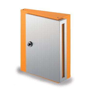 郵便ポスト NASTA デザインポスト KS-MB31S-L 静音大型ダイヤル錠 壁付けポスト ハッピーイエロー B00QX121TS 17820 ハッピーイエロー ハッピーイエロー