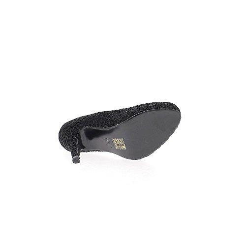 Schwarz pumps Heels 11cm dünn und Mini Spitze Plattform