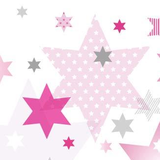 anna wand Bordüre selbstklebend STARS 4 GIRLS - Wandbordüre  Kinderzimmer/Babyzimmer mit Stern-Motiven in Rosa-Grau Tönen - Wandtattoo  Schlafzimmer ...