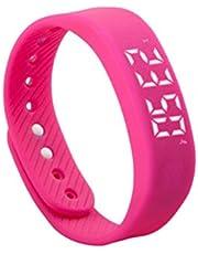 Zinniaya T5 Smart Armband Stappenteller Activiteit Tracker LED Display Multifunctionele Outdoor Sport Polsband Gezondheidshorloge voor volwassenen