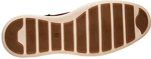 JOUSEN Men's Dress Shoes Wingtip Brogue Leather Oxford (9.5,Oxblood)