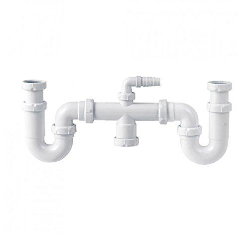 Jimtem M103097 - Sifon curvo doble extensible orientable racor s-30 1 1/2