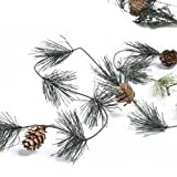 Factory Direct Craft Artificial Wispy Smoky Mountain Pine with Natural Pine Cones Garland for Christmas Holiday Decorating