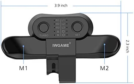 Strike Pack for PS4 Controller,IWGAME Controller Back Button Attachment,Paddles for PS4