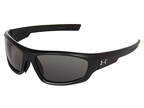 Under Armour UA Power Oval, Satin Black Frame/Gray, 60mm Lens Width/130mm Arm/35mm Bridge (Sunglasses Amour Under)