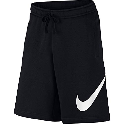 - Nike Men's Sportwear Club Shorts, Black/White, Large