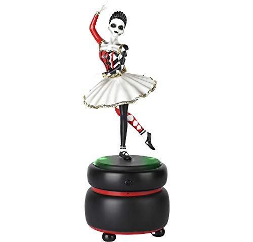 Animated Skeleton Ballerina Music Box Halloween Decoration and Prop, 4