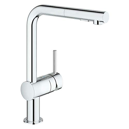 Grohe 30300000 Minta Pull-Out Kitchen Faucet in Polished ()