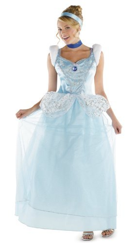 Disguise Disney Cinderella Adult Deluxe Costume, Light