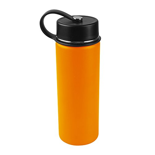 Tahoe Trails 20 oz Double Wall Vacuum Insulated Stainless Steel Water Bottle, Orange