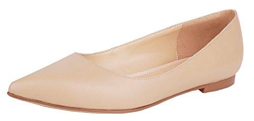 queenfoot Pump6002 - Mocasines de Piel para mujer A-Nude leather