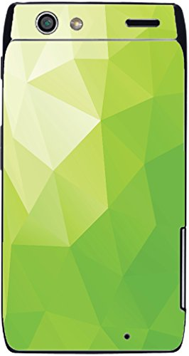 Lime Green Polygon Design Droid RAZR Vinyl Decal Sticker Skin