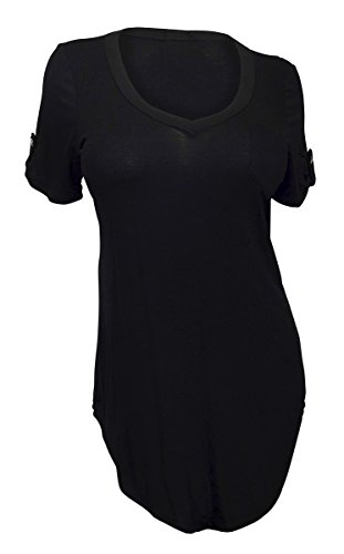 eVogues Apparel Plus Size Ballet Tunic Top Black - 2X