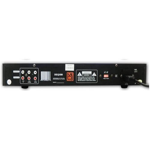 Mr. Dj DEQ500 Dual Band Stereo Graphic Equalizer with 10 Band EQ Blue Leds and Dual Vu Meters Level Monitor by Mr. Dj