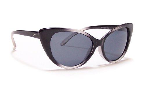 Coyote Eyewear Rita Retro Cool Polarized Sunglasses, Crystal Black - Hi Sunglasses